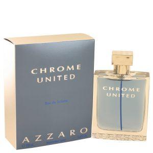Chrome United by Azzaro Eau De Toilette Spray 3.4 oz Men