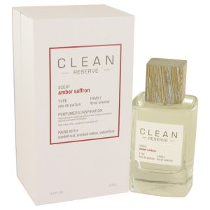 Clean Amber Saffron by Clean Eau De Parfum Spray 3.4 oz Women