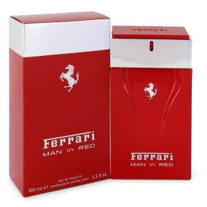 Ferrari Man In Red by Ferrari Eau De Toilette Spray 3.4 oz Men