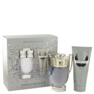 Invictus by Paco Rabanne Gift Set -- 3.4 oz Eau De Toilette Spray + 3.4 oz Shower Gel Men