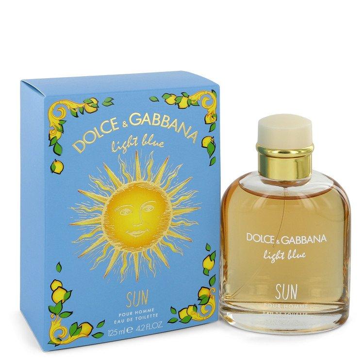 Light Blue Sun by Dolce & Gabbana Eau De Toilette Spray 4.2 oz Men