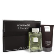 Lalique Hommage a L'Homme by Lalique Gift Set -- 3.3 oz Eau De Toilette Spray + 5.7 oz Shower Gel Men