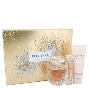 Le Parfum Elie Saab by Elie Saab Gift Set -- 3 oz Eau De Parfum Spray + .33 oz Travel EDP Spray + 2.5 oz Body Lotion Women