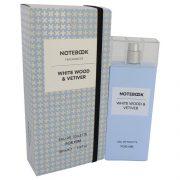 Notebook White Wood & Vetiver by Selectiva SPA Eau De Toilette Spray 3.4 oz Men