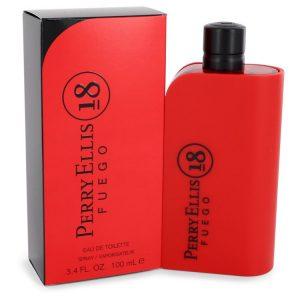 Perry Ellis 18 Fuego by Perry Ellis Eau De Toilette Spray 3.4 oz Men