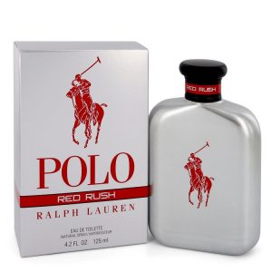 Polo Red Rush by Ralph Lauren Eau De Toilette Spray 4.2 oz Men