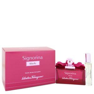 Signorina Ribelle by Salvatore Ferragamo Eau De Parfu Spray + Free .34 oz Mini EDP Spray 3.4 oz Women