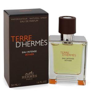 Terre D'hermes Eau Intense Vetiver by Hermes Eau De Parfum Spray 1.7 oz Men