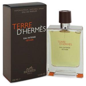 Terre D'hermes Eau Intense Vetiver by Hermes Eau De Parfum Spray 6.8 oz Men