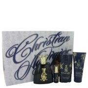 Christian Audigier by Christian Audigier Gift Set -- 3.4 oz Eau De Toilette Spray + .25 oz MIN EDT + 3 oz Body Wash + 2.75 Deodorant Stick Men