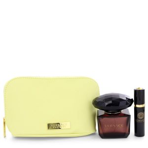 Crystal Noir by Versace Gift Set -- 3 oz Eau De Toilette Spray + 0.3 oz Mini EDT Spray In Versace Pouch Women