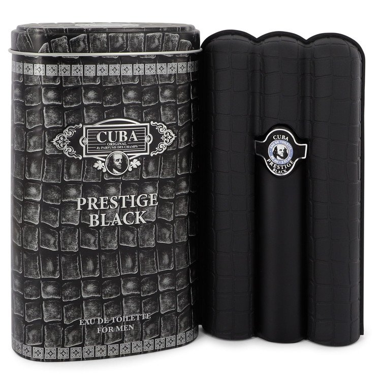Cuba Prestige Black by Fragluxe Eau De Toilette Spray 3 oz Men
