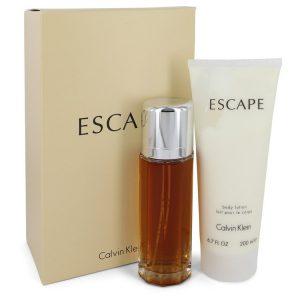 ESCAPE by Calvin Klein Gift Set -- 3.4 oz Eau De Parfum Spray + 6.7 oz Body Lotion Women