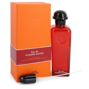 Eau De Rhubarbe Ecarlate by Hermes Eau De Cologne Spray 6.7 oz Men