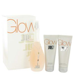 Glow by Jennifer Lopez Gift Set -- 3.4 oz Eau De Toilette Spray + 2.5 oz Body Lotion + 2.5 oz Shower Gel Women