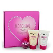 Moschino Pink Bouquet by Moschino Gift Set -- .17 oz Mini EDT + 0.8 oz Body Lotion + 0.8 oz Shower Gel Women