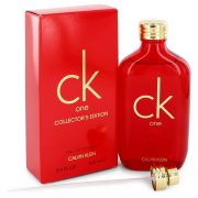 CK ONE by Calvin Klein Eau De Toilette Spray (Unisex Red Collector's Edition) 3.3 oz Men