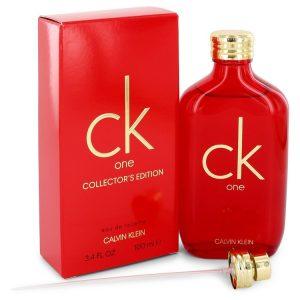 CK ONE by Calvin Klein Eau De Toilette Spray (Unisex Red Collector's Edition) 3.3 oz Men