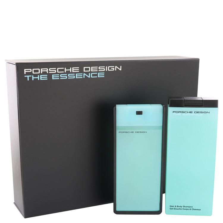 The Essence by Porsche Gift Set -- 2.7 oz Eau De Toilette Spray + 6.8 oz Shower Gel Men