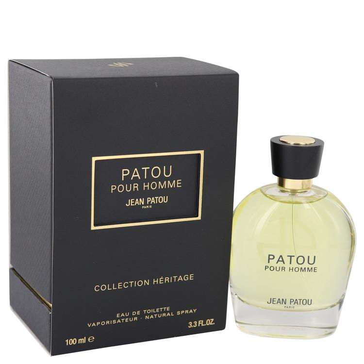 Patou Pour Homme by Jean Patou Eau De Toilette Spray (Heritage Collection) 3.4 oz Men