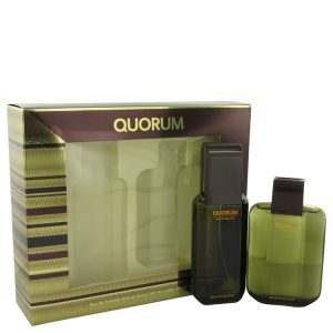 QUORUM by Antonio Puig Gift Set -- 3.3 oz Eau De Toilette Spray + 3.3 oz After Shave Men