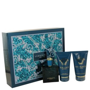 Versace Eros by Versace Gift Set -- 1.7 oz Eau De Toilette Spray + 1.7 Shower Gel + 1.7 oz After Shave Balm Men