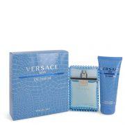 Versace Man by Versace Gift Set -- 3.3 oz Eau De Toilette Spray (Eau Frachie) + 3.3 oz Shower Gel Men