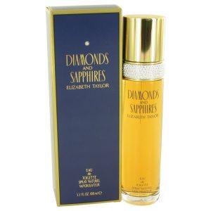 DIAMONDS & SAPHIRES by Elizabeth Taylor Eau De Toilette Spray 3.4 oz Women