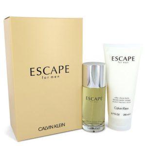 ESCAPE by Calvin Klein Gift Set -- 3.4 oz Eau De Toilette Spray + 6.7 oz After Shave Balm Men