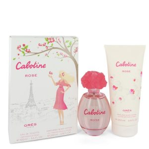 Cabotine Rose by Parfums Gres Gift Set -- 3.4 oz Eau De Toilette Spray + 6.7 oz Body Lotion Women