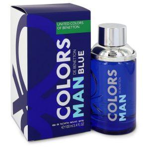 Colors De Benetton Blue by Benetton Eau De Toilette Spray 3.4 oz Men