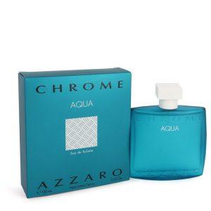 Chrome Aqua by Azzaro Eau De Toilette Spray 3.4 oz Men