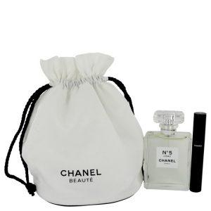 Chanel No. 5 L'eau by Chanel Gift Set -- 3.4 oz Eau De Toilette Spray + Le Volume 10 Mascara in Gift Pouch Women