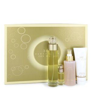 perry ellis 360 by Perry Ellis Gift Set -- 3.4 oz Eau De Toilette Spray + 4 oz Body Mist + 3 oz Shower Gel + .25 Mini EDT Spray Women