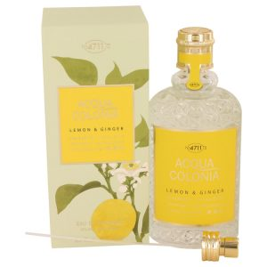 4711 ACQUA COLONIA Lemon & Ginger by Maurer & Wirtz Eau De Cologne Spray (Unisex) 5.7 oz Women