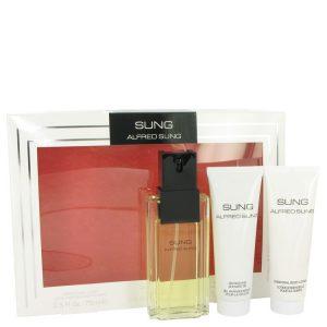 Alfred SUNG by Alfred Sung Gift Set -- 3.4 oz Eau De Toilette Spray + 2.5 oz Body Lotion + 2.5 oz Shower Gel Women
