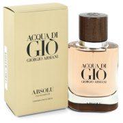 Acqua Di Gio Absolu by Giorgio Armani Eau De Parfum Spray 1.35 oz Men
