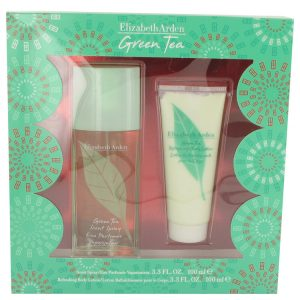 GREEN TEA by Elizabeth Arden Gift Set -- 3.3 oz Scent Spray  + 3.3 Body Lotion Women