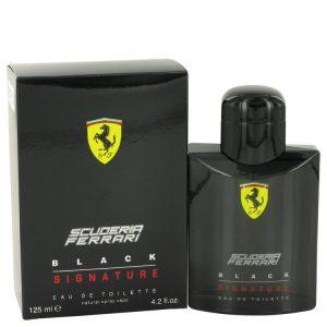 Ferrari Scuderia Black Signature by Ferrari Eau De Toilette Spray 4.2 oz Men