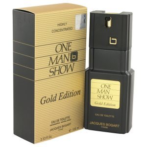 One Man Show Gold by Jacques Bogart Eau De Toilette Spray 3.3 oz Men